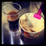 Affogato with Salted Caramel And Macademia White Chocolate