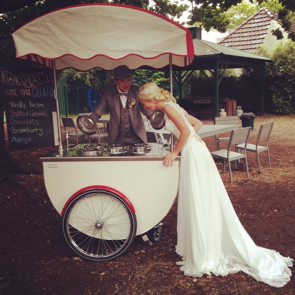 Ice cream booth wedding