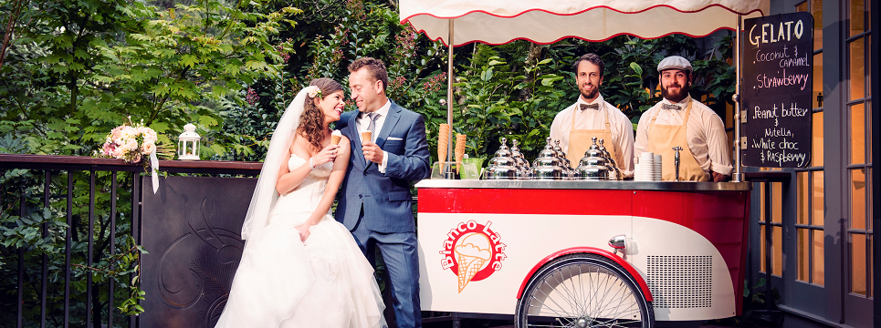 Icecream Cart serving Wedding